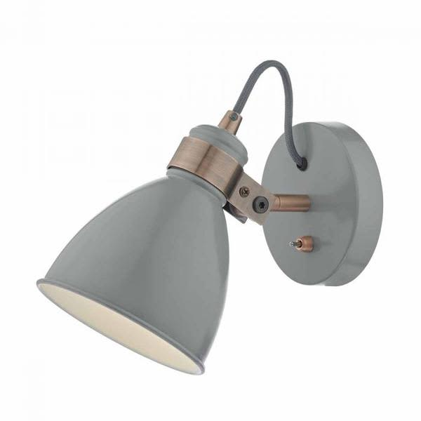 Persora Grey And Copper Accent The Frederick Single Wall Light