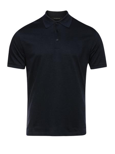 Ermenegildo Zegna Navy Polo Shirt
