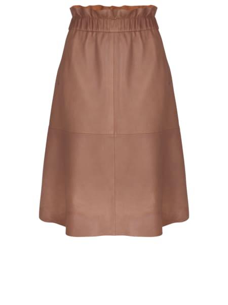 Dante 6  Ballet Pink Temari Leather Skirt