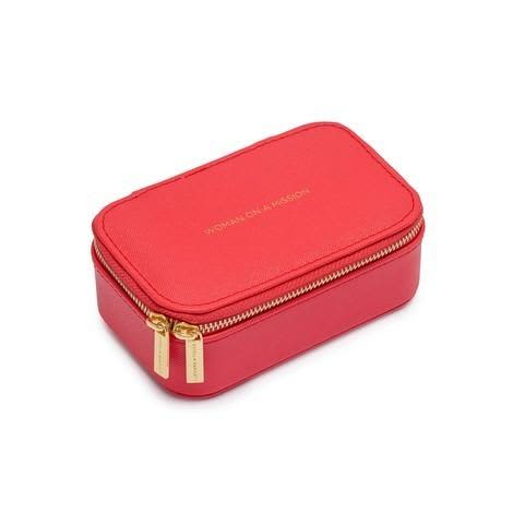 Estella Bartlett  Mini Coral Red Woman On A Mission Travelling Jewellery Box