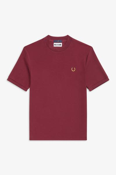 Fred Perry x Miles Kane Aubergine Crew Neck Pique T Shirt