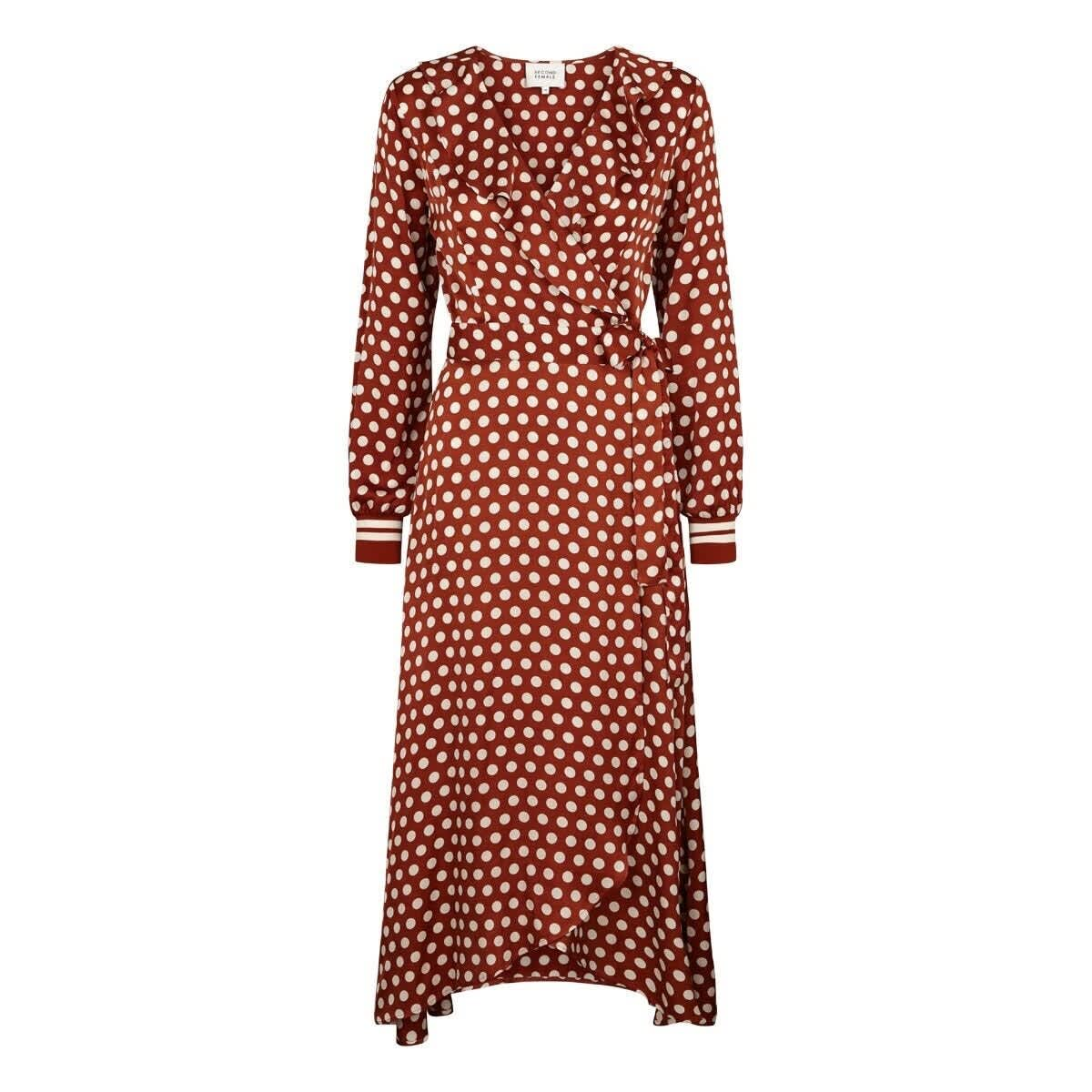 Second Female Rustic Brown Spotty Dress