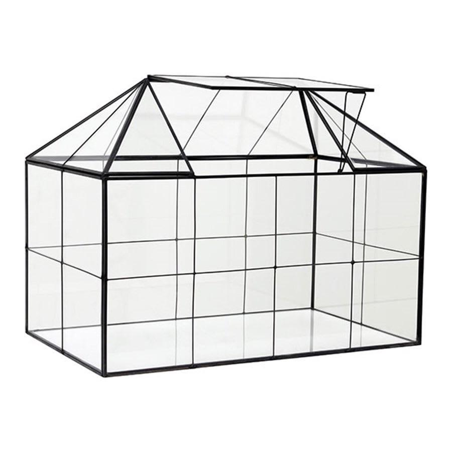 HK Living  Mini Glass Greenhouse