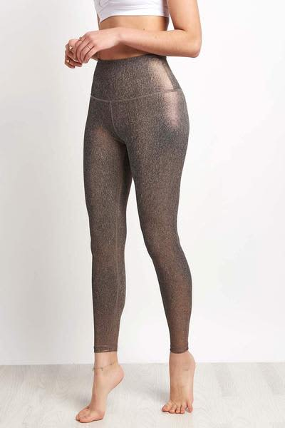 Beyond Yoga Rose Gold Dusted High Waisted Midi Legging