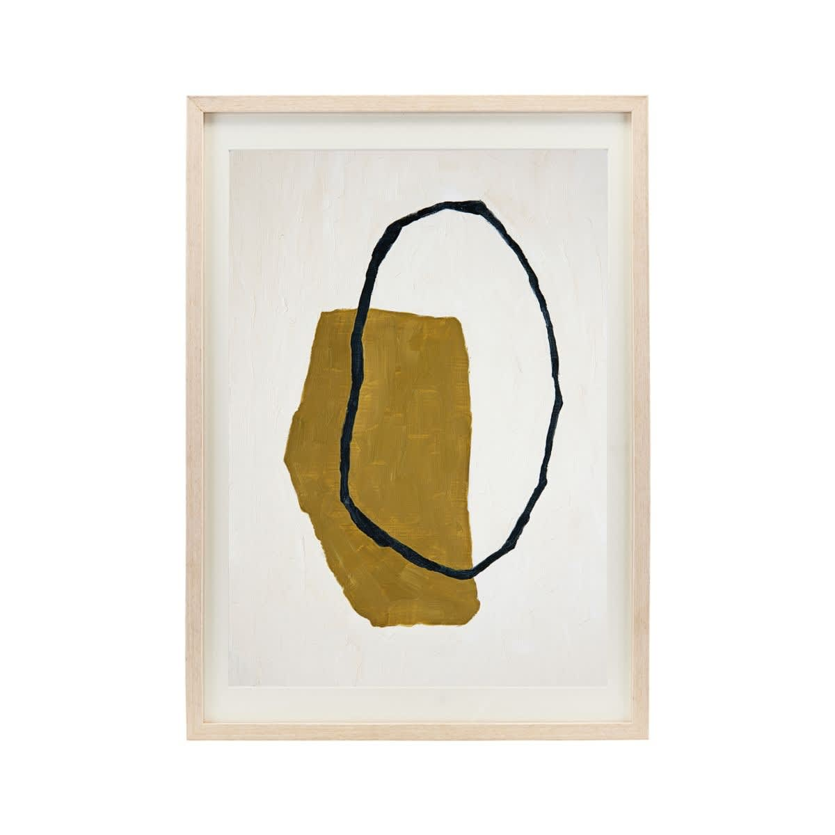 House Doctor Illustration W Frame Abstract