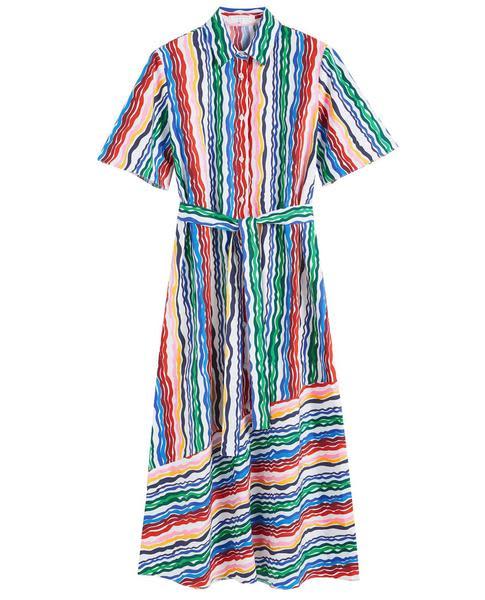 Chinti & Parker Rainbow Shirt Dress