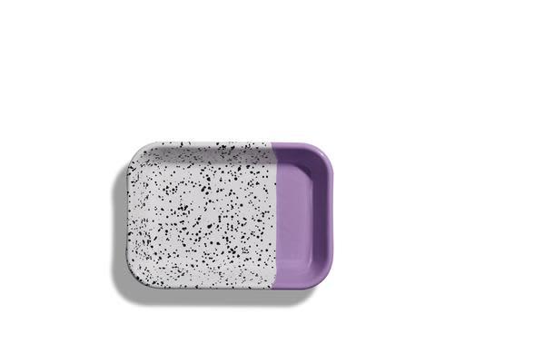 Kapka Mind Pop Purple Enamel Big Mezze Plate