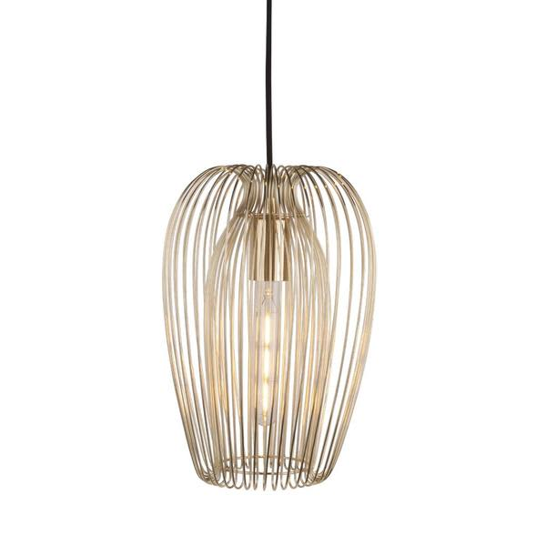 Present Time Gold Metal Pendant Light Fitting