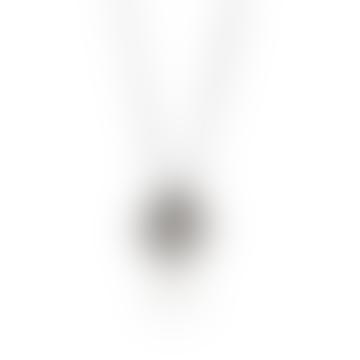 Icosa Pendant Silver Onyx