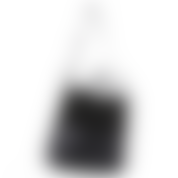 Kavan Suede & Leather Shoulder Tote - Black on Black