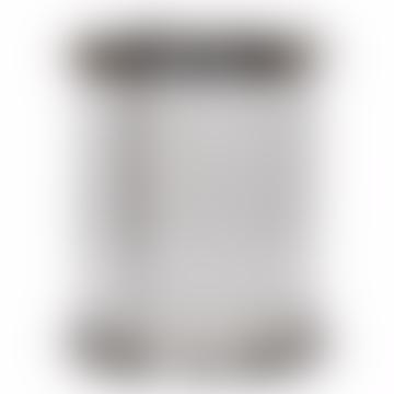 Gatsby Nickel & Crystal Rod Hurricane Candle Holder