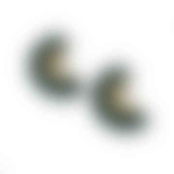 Wolf & Moon Curve Hoop Stud Earrings
