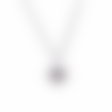 Zoe and Morgan  Silver Amethyst Crown Chakra Necklace
