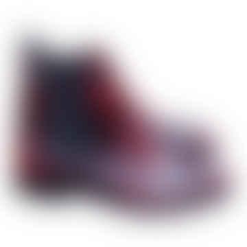 Red Carlotta Brogue Boots