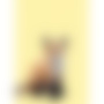 Woodland Fox Abstract A3 Unframed Print