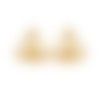 Gold Minimal Pyramid Earrings