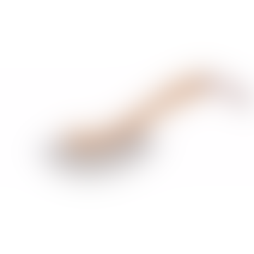 Wooden Dust Brush Sickle Shape With Handle