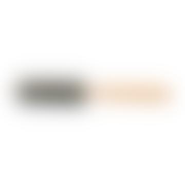 Round Beechwood Hair Brush With Soft Boar Bristle