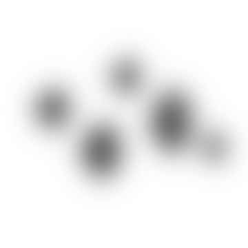 Black Dots (pack Of 5) Coat Hooks