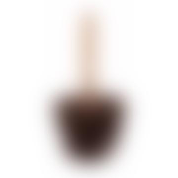 Oiled Wooden Flower Pot Brush