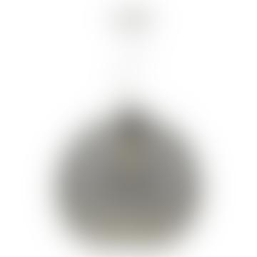Silver Smoked Glass Aulax Pendant Light