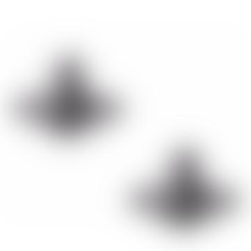 Vivienne Westwood  Ruthenium Lorelei Stud Earrings