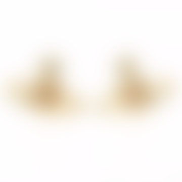 Gold Topaz Nano Solitaire Earrings