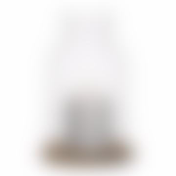 Sagaform Oak Lantern With Candle
