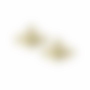 Vivienne Westwood  Gold Topaz Mini Bas Relief Earrings