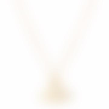 Collier pendentif orbe plat de lignes fines dorées