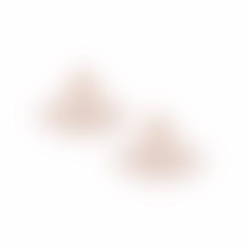 Vivienne Westwood  Pink Gold Thin Lines Flat Orb Stud Earrings