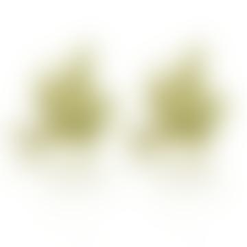 CollardManson Gold Plated Little Bird Stud Earrings