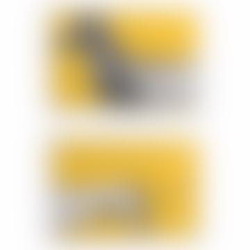 Charley Rabbit Publishing Yellow Sausage Dog/ Dachshund Head and Tail Art Print Set