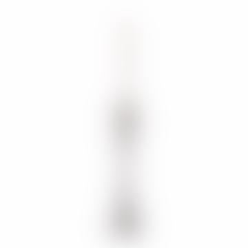 Tall Chrome Reflection Candlestick