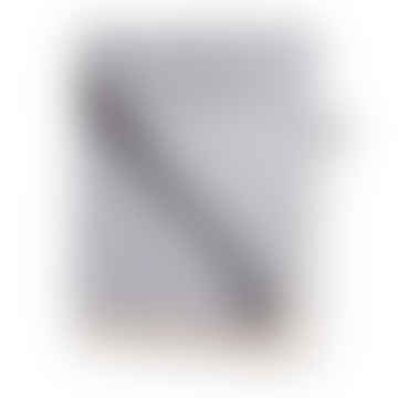 Charcoal Herringbone Merino Cashmere Blanket Throw