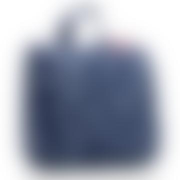 Spots Navy Foldable Toilet Bag