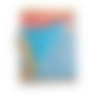 Blue and Orange Merino Lambswool Blanket Throw