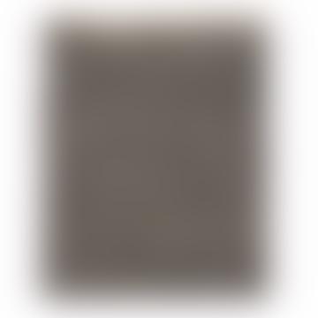 Broste Copenhagen Large Grey Kamma Leather & Cotton Rug