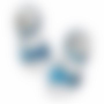 Shiny Turquoise Surfer Sandal