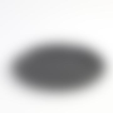 Kagu Interiors Stoneware Black Pure Plate - medium