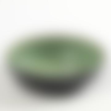 Small Aqua Green And Black Bowl