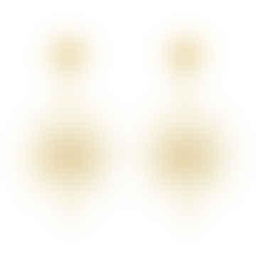 Gold Sunburst Earrings
