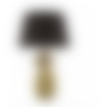 Gold C/W Black Cotton Shade Safa Table Lamp
