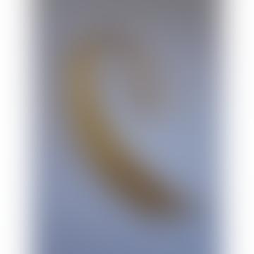 CollardManson Gold Plating Curved Drop Earrings