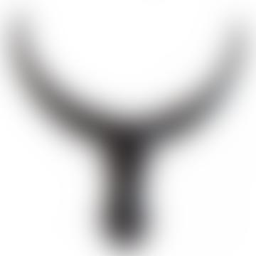 Black Wood Cow Horns