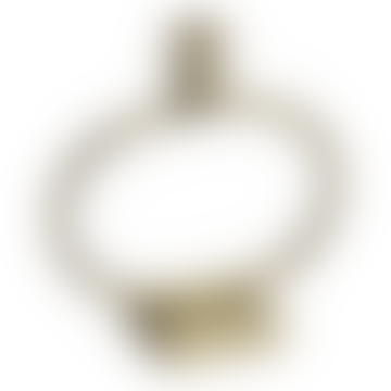 Nordal Circular Brass Candle Holder