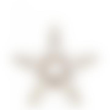 Medium Brass Sanwi Standing Star T-Light Holder
