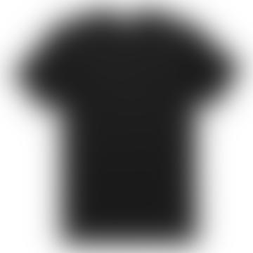 Black Q8 Short Sleeve Crew Neck Shirt