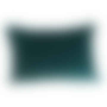 Cushion Velvet Teal Rectangle