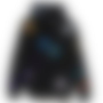 Black Pailles Zip Jacket
